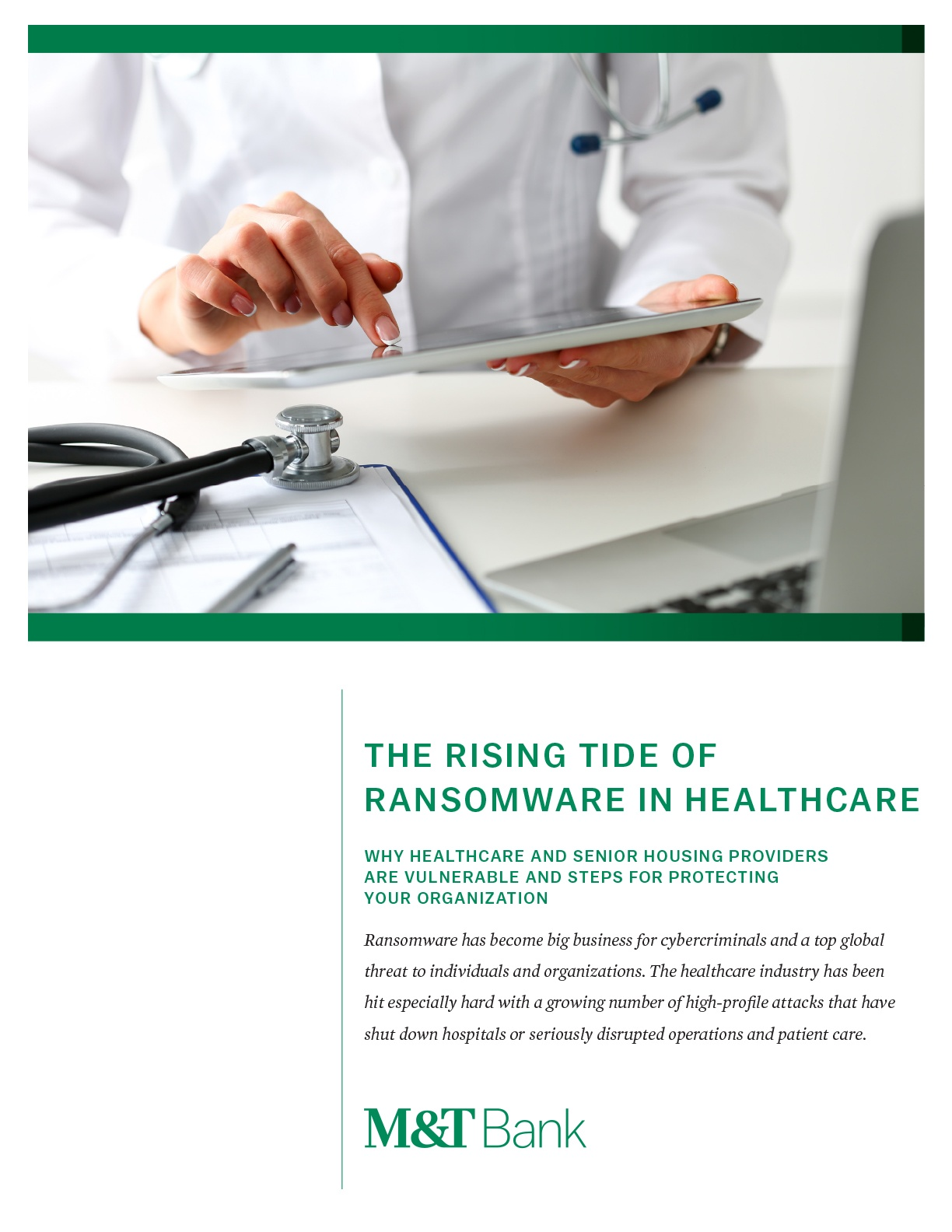 The Rising Tide of Ransomware in Healthcare